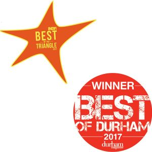 Indy Week Best of 2017 and Durham Magazine Best of Durham 2017