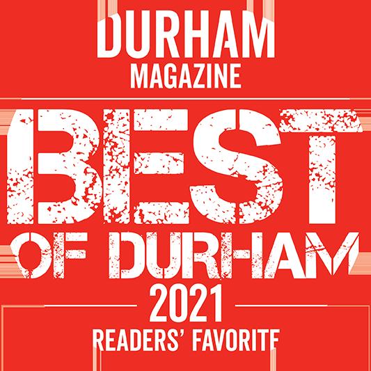 """Durham Magazine """"Best of Durham 2021"""" Readers' Favorite"""